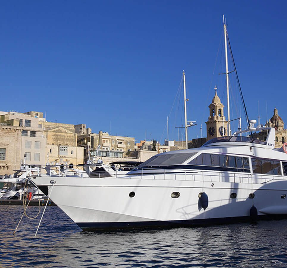 RITI Luxury Yacht docked at Kalkara Marina in Malta